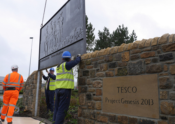 Tesco Project Genesis sign