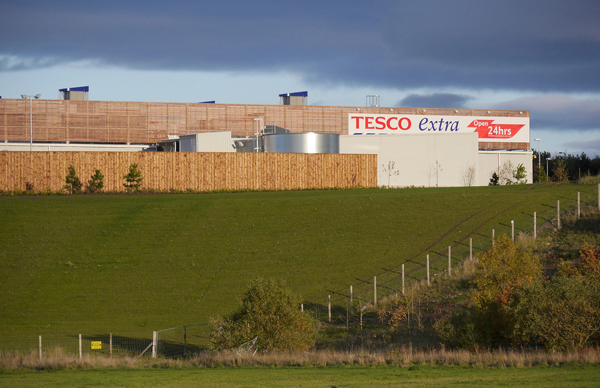Tesco from the road
