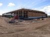 Tesco development and aerial shots of construction work in Consett