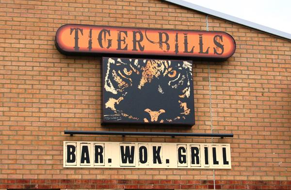 Tiger Bills outside signage