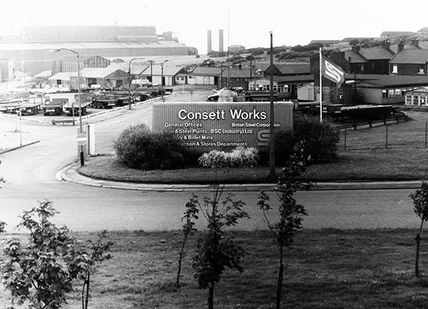 The Consett Steelworks sign
