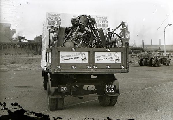 A full scrap van