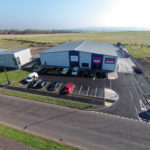 Aerial shots of new JT Dove depot at Hownsgill Industrial Park in Consett.
